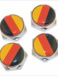 DIY German Flag Pattern Universal Metal License Plate Bolt Screw Caps for Car