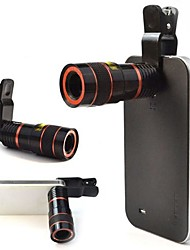 8x18 Black Universal 8X Photo Telescope / Microscope Lens for Phone 4S / 5 / 5c / 6 / 6 plus / Ipad / Ipad MINI