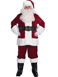 Deluxe Flocking Adult Santa Suit(for 175-180cm Men)