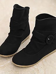 D&y Women's shoes Round Toe Flat Heel Ankle Boots