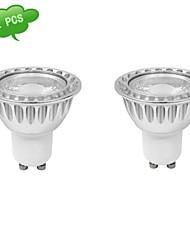 7W GU10 Spot LED MR16 1 COB 630 lm Blanc Froid Gradable AC 100-240 V 2 pièces
