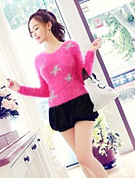 PINK DOLL Women's Round Neck Bodycon Solid Color Oevrcoat