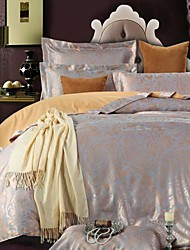 Betterhome Duvet Cover Duvet Cover Set Comfort Luxury Modern 4 Piece Jacquard Faux Silk Full