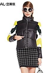 eral®women winterjas met lange mouwen slanke bont lappendeken ontwerp korte down jas warme dikke jas