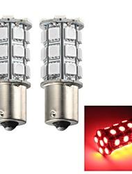 Merdia 5W 115lm 1156 27x5050smd LED-rotes Licht Blinklicht / Bremslicht / Nebellicht (2 Stück / 12v)