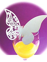 12pcs Laser Cut Paper Butterfly Cup Name Place Card