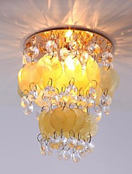 jaune cristal shell lumière de plafond (finition or)