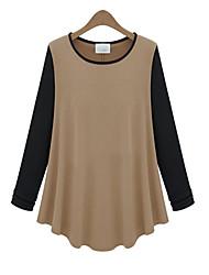 Черная пятница свободно длинным рукавом дна рубашки 3047 (черный, верблюд)