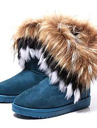 Loubo женщин комфортно causual сгущаться мех снег загрузки (мех случайным черный или коричневый)
