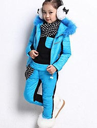 Girl's fur collar David clothing Suit
