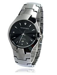 Men's Waterproof Calendar Round Dial Tungsten Steel Band Quartz Analog Wrist Watch(Assorted Color)