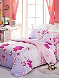 Mingjie Red Flowers Bedding Sets 4pcs Duvet Cover Sets Bed Linen China Queen Size and Full Size