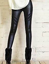 Women's Stretch Imitation Leather Leggings