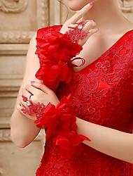 Wrist Length Fingerless Glove - Tulle Bridal Gloves