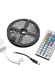 60w 1500lm 5050 300 SMD RGB Dekoration Lichtleiste w / 44-Tasten-Fernbedienung - weiß (5m)