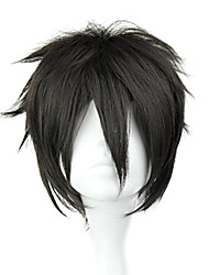 Cosplay Wigs Sword Art Online Kirito Black Short / Straight Anime Cosplay Wigs 32 CM Heat Resistant Fiber Male