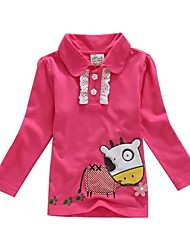 Girl's Red Shirt Cotton Spring / Fall