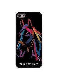 персонализированные телефон случае - акварель случай лошадь металлическая конструкция для iPhone 5 / 5s