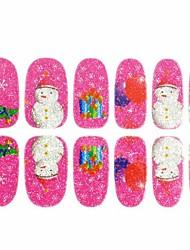 3d ongles autocollants décalques paillettes cadeau de Noël pour obtenir des conseils à ongles ongles noël art décorations