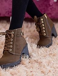 Winble Women's Fashion Causual Comfortable High Heel Temperament Tie Martin Boots