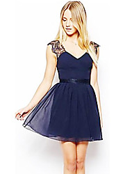 Women's Skater Dress with Open Back