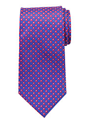Blue&Red Pattern Silk Tie