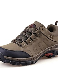 Men's Hiking Shoes Leather Green/Gray/Khaki