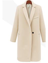 Juciy Women's Elegant Long Sleeve Tweed Long Coat