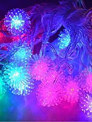jiawen® 4m 20leds rgb luzes da corda bola de neve levou luz seqüência de natal para decoração (AC 110-220V)