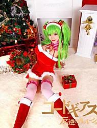 Code Geass C.C Red Christmas Costume