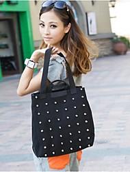 Women's Rivet Large Capacity Shoulder Canvas Bag