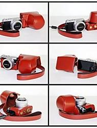 pajiatu® pu fotocamera pelle olio di cuoio della copertura del sacchetto custodia protettiva per panasonic lumix dmc-GM1 fotocamera GM1
