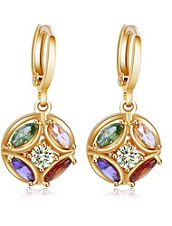 Woman's Fashion Colorful Zircon Gold-Plated Ear Clip