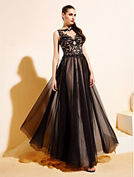 TS Couture Formal Evening Dress - Black A-line/Princess Bateau Floor-length Tulle