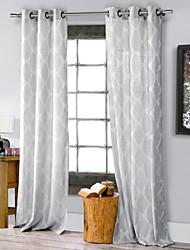 curvas de passagem eco-friendly cortina estilo country elegante (um painel superior grommet)