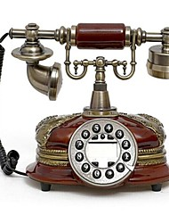 Europe Style Polyresin Material Home Decor Telephone with ID Display, Antique Cherry