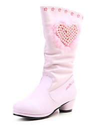 Girls' Shoes Fashion Boots Low Heel Knee High Boots with Zipper More Colors available