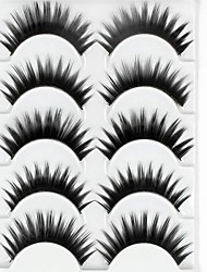 New 5 Pairs European Black Long Thick False Eyelashes Eyelash Eye Lashes for Eye Extensions