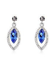 Women's Crystal Pave Embeded Drops Platinum-plated Alloy Stud Earrings (More Colors)