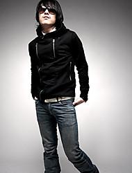 casaco zip lado negro com capuz