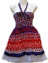 Trachten Muster bedruckt Rohr Halfter Kleid