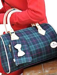 Erlen Women's Korean Style Scottish Small Pillow Shape Tote(Sreen Color)