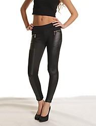 Violy Women's Splicing Zipper Slim Fit Trouser