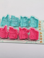 4P Car Shaped Suction Card Cake Mold Fondant Mold(More Colors)