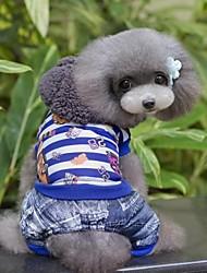 Winter Cotton Pants for Dogs Blue / Rose S / M / L / XL / XXL
