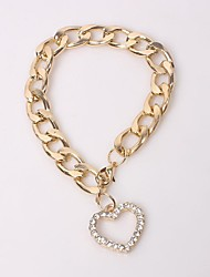 LOVE Set Auger Thick Chain Bracelet Jewelry Christmas Gifts