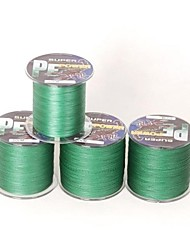 300M / 330 Yards Linha Traçada PE / Dyneema Linhas de Pesca Verde 30LB 0.26 mm ParaPesca de Mar / Pesca Voadora / Isco de Arremesso /