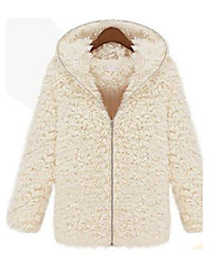 Nai.Si  Women European Upscale Warmth Cheap  Fur Coats