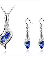 WEIMEI Women's Temperament Rhinestone Crystal Elegance Fashion Necklace Earrings Suits