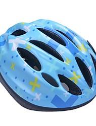 moda cómoda seguridad + eps 10 respiraderos niños 'integralmente moldeadas por el ciclismo casco - cielo azul + amarillo